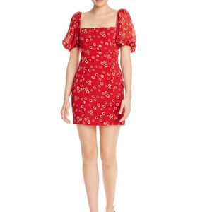 Fame and Partners Puff Sleeve Floral Mini Dress